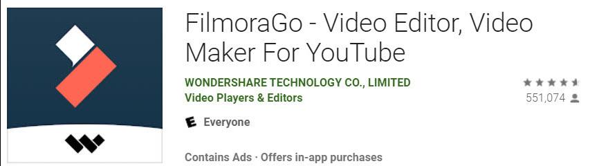 FilmoraGo video Editor gratis video maker Youtube