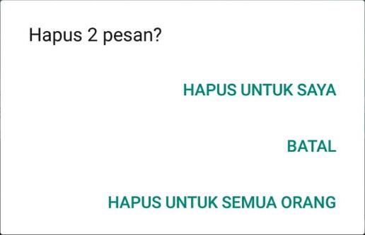 Menghapus Postingan WhatsApp