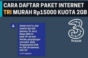 Paket Internet 3 2GB 1500