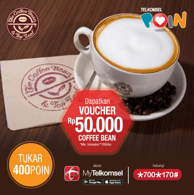 Telkomsel Poin Voucher Coffee Bean 50 ribu