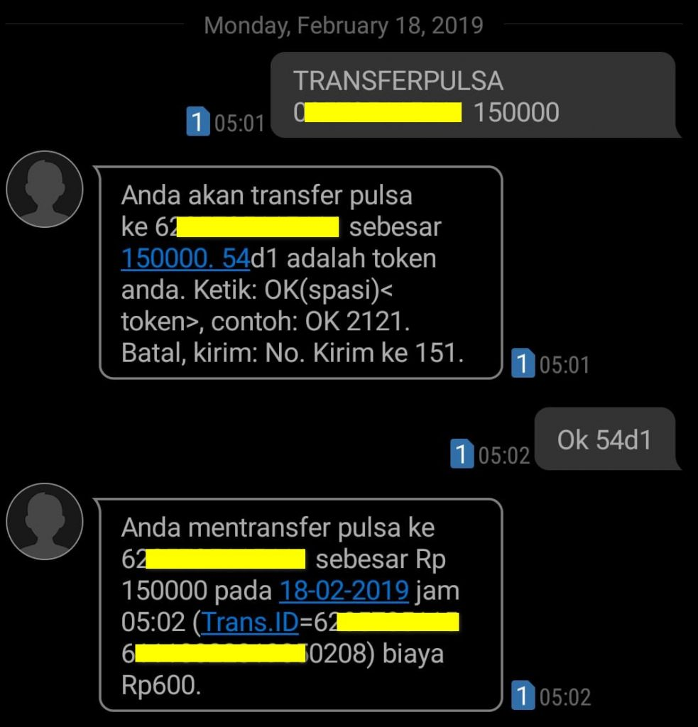cara transfer pulsa IM3 Indosat Ooredoo dengan kirim SMS 151